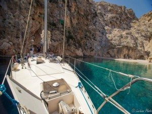 Aqualung a Pserimos, piccola insenatura sulla costa greca