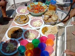La colazione nella nostra crociera in barca a vela