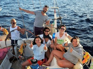 Foto di gruppo: crociera in barca a vela in Grecia