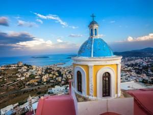 Siro, isola greca delle Cicladi nel mar Egeo