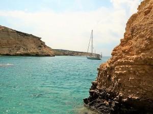 Aquakufo, piccola insenatura sulla costa greca