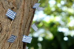 Piccole bandiere della Grecia