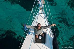 La nostra barca a vela di lusso vista dall'alto