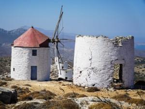 Mulini caratteristici della costa greca