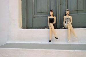 sitting girls