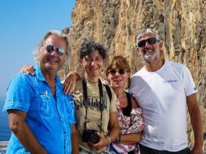 Foto di gruppo durante la crociera in Grecia