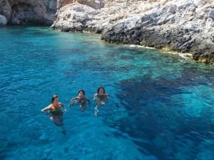 Immersione nel mare della Grecia